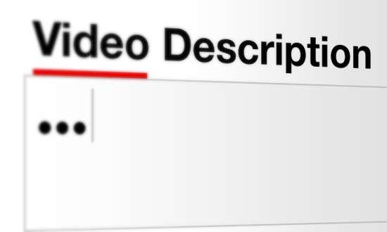 Descripción de los vídeos en YouTube