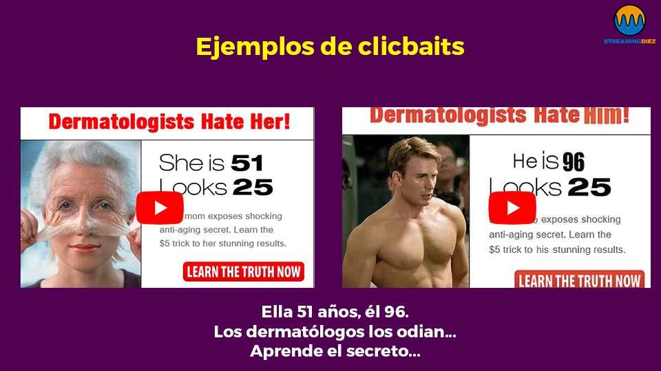 Ejemplos extremos de clicbaits